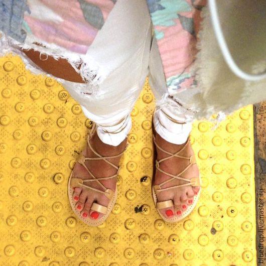 """Обувь ручной работы. Ярмарка Мастеров - ручная работа. Купить Кожаные сандалии """"Спартанские"""" с пальчиком. Handmade. Сандалии, мужские сандалии"""