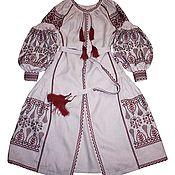 Одежда ручной работы. Ярмарка Мастеров - ручная работа Льняное Платье вышиванка. Handmade.