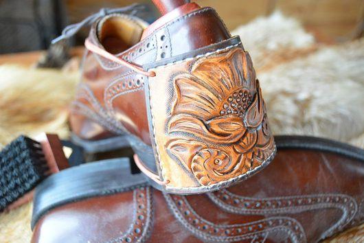 Подарки для мужчин, ручной работы. Ярмарка Мастеров - ручная работа. Купить Стиль Любителя Чистой Обуви. Защита пятки для водителя. Handmade.