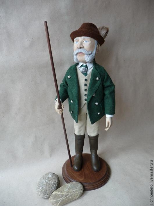 Портретные куклы ручной работы. Ярмарка Мастеров - ручная работа. Купить Франц-Иосиф,император Австрии, в костюме охотника. Handmade.