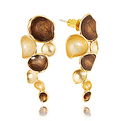 Украшения handmade. Livemaster - original item Chocolate long earrings evening surprise