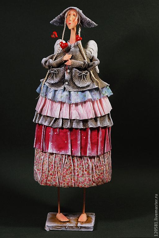 Коллекционные куклы ручной работы. Ярмарка Мастеров - ручная работа. Купить Ангел Герда. Handmade. Ангел, подарок, дерево