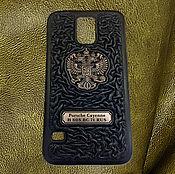 Сумки и аксессуары handmade. Livemaster - original item Personal leather phone cover. Handmade.