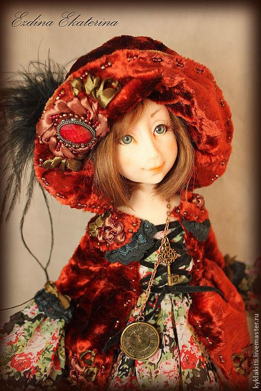 Коллекционные куклы ручной работы. Ярмарка Мастеров - ручная работа. Купить Красная шапочка. Handmade. Красный, плюш