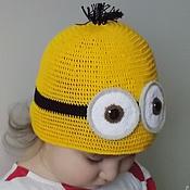 """Работы для детей, ручной работы. Ярмарка Мастеров - ручная работа Вязаная шапка """"Миньон"""". Handmade."""