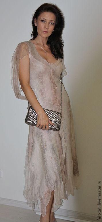 """Платья ручной работы. Ярмарка Мастеров - ручная работа. Купить Платье  """"Chantilly"""". Handmade. Бежевый, летнее платье, платье в пол"""