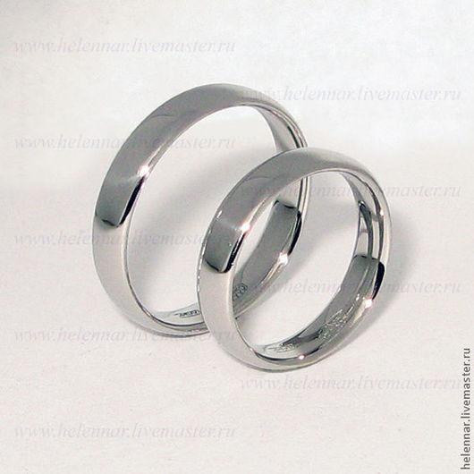 Свадебные украшения ручной работы. Ярмарка Мастеров - ручная работа. Купить Обручальные кольца из платины. Handmade. Свадьба, кольца