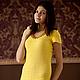 """Платья ручной работы. Ярмарка Мастеров - ручная работа. Купить Платье """"Желтый топаз"""". Handmade. Желтый, платье коктейльное"""