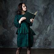 """Одежда ручной работы. Ярмарка Мастеров - ручная работа Валяное платье """"Emerald"""". Handmade."""