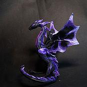"""Куклы и игрушки ручной работы. Ярмарка Мастеров - ручная работа Виверн   """"лиловое пламя"""" дракон пламя огонь игрушка вулкан. Handmade."""