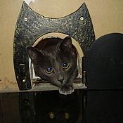 Для домашних животных, ручной работы. Ярмарка Мастеров - ручная работа Кованая дверь для Коте)). Handmade.