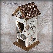 """Для дома и интерьера handmade. Livemaster - original item Чайный домик """"Осенний вальс"""". Handmade."""