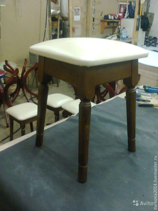 Мебель ручной работы. Ярмарка Мастеров - ручная работа. Купить Табурет. Handmade. Табурет, дерево, экокожа, дерево бук, экокожа