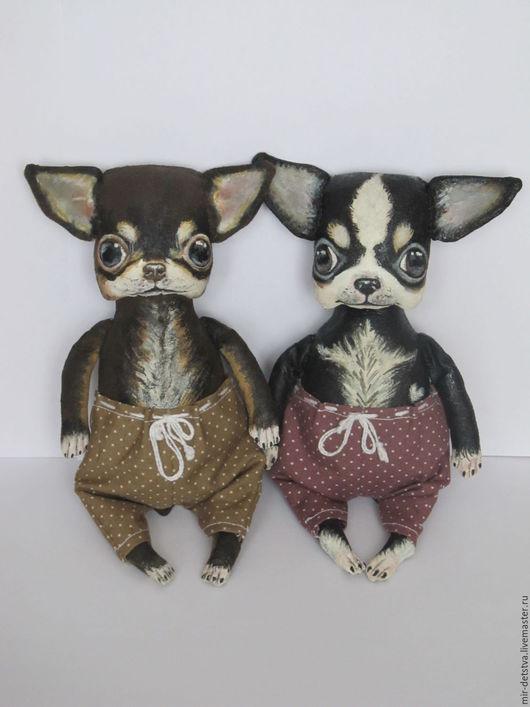 Ароматизированные куклы ручной работы. Ярмарка Мастеров - ручная работа. Купить Чихуашка Бу чёрно-белый... Handmade. Чёрно-белый