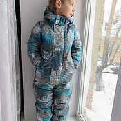 """Работы для детей, ручной работы. Ярмарка Мастеров - ручная работа """"Во льдах"""". Зимний комбинезон. Handmade."""
