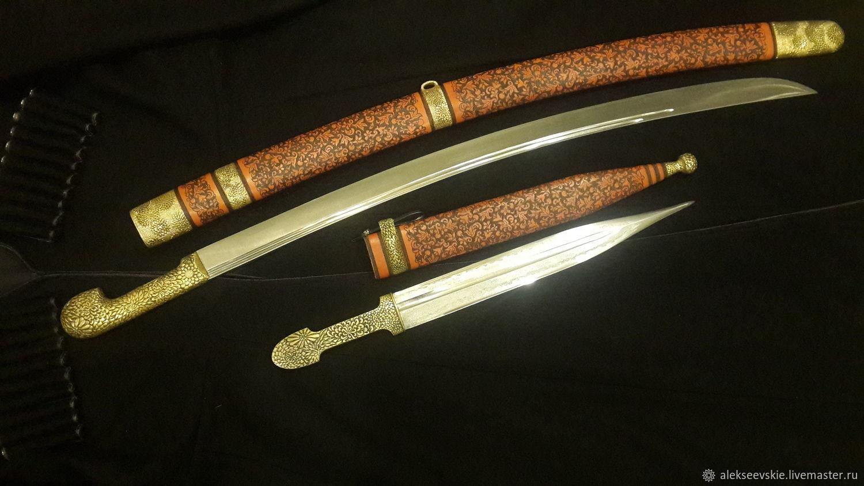Checker Caucasian and Kama, Souvenir weapon, Moscow,  Фото №1