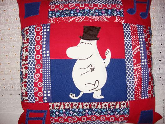 Детская ручной работы. Ярмарка Мастеров - ручная работа. Купить Подушки с мумиками красно-синие. Handmade. Муми-тролли, детская