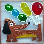 Подарки к праздникам ручной работы. Ярмарка Мастеров - ручная работа Магнит Такса на шариках. Handmade.