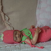 """Работы для детей, ручной работы. Ярмарка Мастеров - ручная работа Комплект """"Клубничка"""" для фотосессии.. Handmade."""