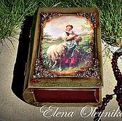 Для дома и интерьера ручной работы. Ярмарка Мастеров - ручная работа шкатулка книга девочка с овечками.. Handmade.