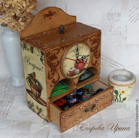 """Кухня ручной работы. Ярмарка Мастеров - ручная работа. Купить Чайный домик Чайный буфет """"Время пить чай"""". Handmade."""