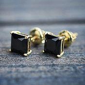 Украшения handmade. Livemaster - original item Posey earrings with diamonds 4 ct