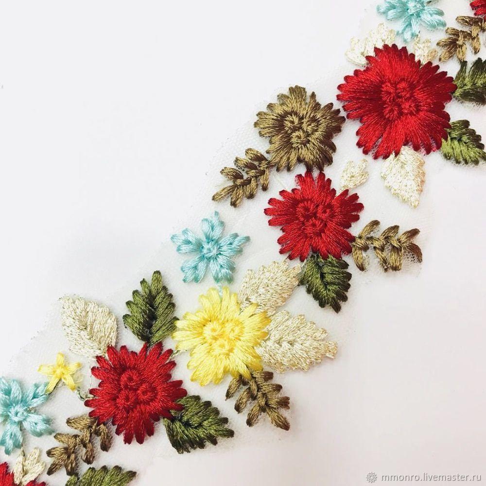 Colorful embroidery, braid, trimmings, Emily, braid, Podolsk,  Фото №1