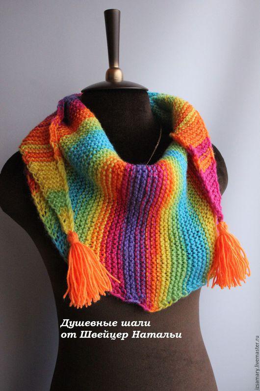 Шарфы и шарфики ручной работы. Ярмарка Мастеров - ручная работа. Купить Детский яркий бактус-шарф для девочки Скитлс. Handmade.