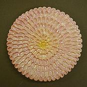 Посуда ручной работы. Ярмарка Мастеров - ручная работа тарелка Нежная хризантема. Handmade.