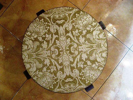 Мебель ручной работы. Ярмарка Мастеров - ручная работа. Купить Табурет деревянный декупаж Винтажный узор. Handmade. Мебель из дерева