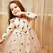 Платья ручной работы. Ярмарка Мастеров - ручная работа Платье с фламинго. Handmade.