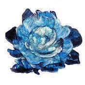 Украшения ручной работы. Ярмарка Мастеров - ручная работа Синяя роза из шерсти.Цветы из шерсти.. Handmade.