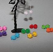 Украшения handmade. Livemaster - original item Handmade Earrings beads-Fuzzies for girls. Handmade.