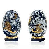 Для дома и интерьера handmade. Livemaster - original item Porcelain egg on stand