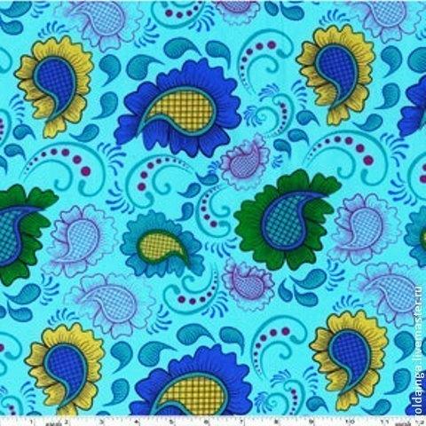 """Шитье ручной работы. Ярмарка Мастеров - ручная работа. Купить №267 американский хлопок """"Прекрасный"""". Handmade. Синий, американские ткани"""