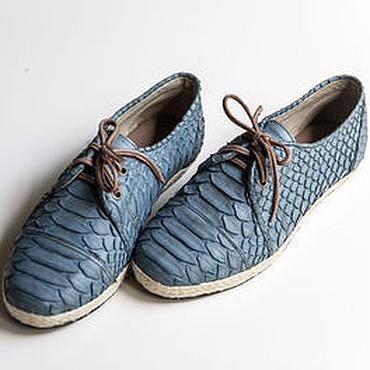 Обувь ручной работы. Ярмарка Мастеров - ручная работа Кожаные женские ботинки из питона. Ботинки из натуральной кожи питона. Handmade.