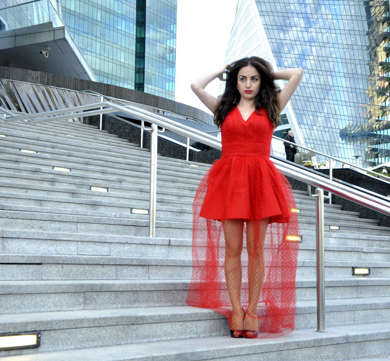 04789c9ba22 Красное дизайнерское платье. Регина Акопова (Reginaakopova).  Интернет-магазин