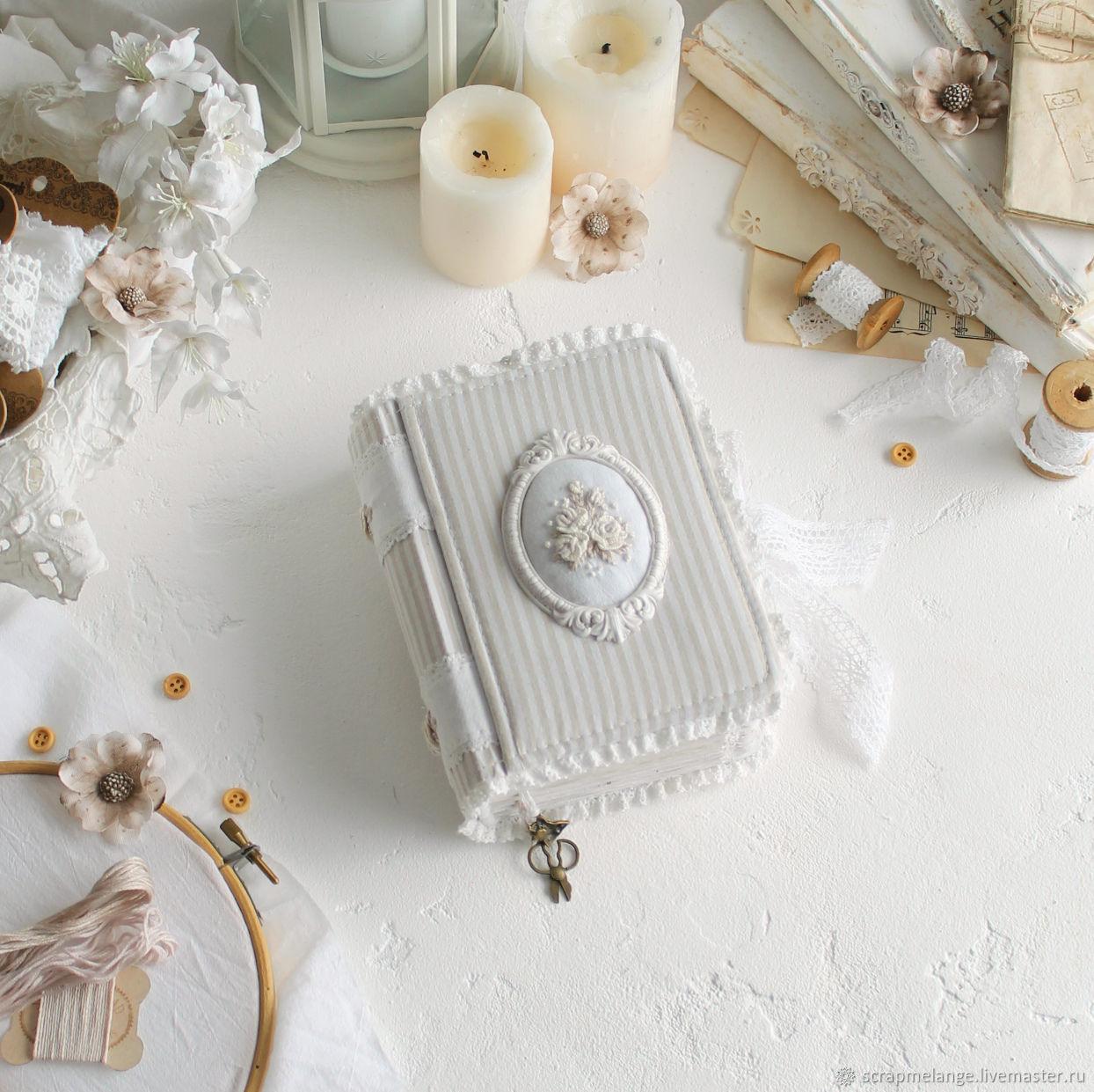 Notebook for a girl 'Tendernes' white shebby, Notebooks, Tyumen,  Фото №1
