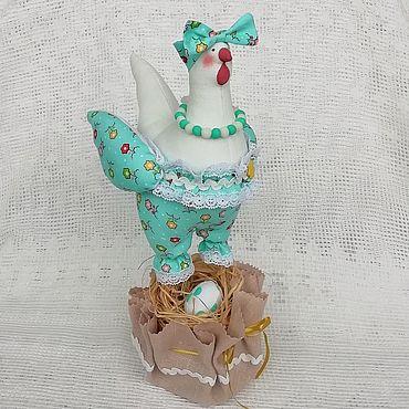 Куклы и игрушки ручной работы. Ярмарка Мастеров - ручная работа Курочка в стиле тильда Бирюзовая Пасха. Handmade.