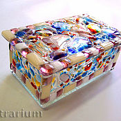 Для дома и интерьера handmade. Livemaster - original item Box for jewelry, fusing glass