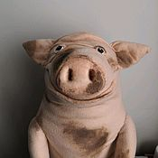 Мягкие игрушки ручной работы. Ярмарка Мастеров - ручная работа Свинья. Handmade.