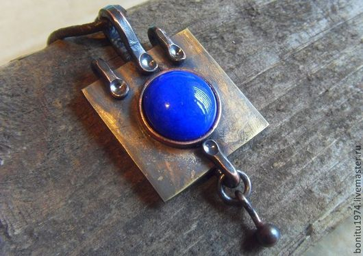 """Кулоны, подвески ручной работы. Ярмарка Мастеров - ручная работа. Купить Кулон """"Синий глаз"""". Handmade. Тёмно-синий, подарок"""