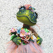 Dolls handmade. Livemaster - original item Frog-bunhead. textile doll.. Handmade.