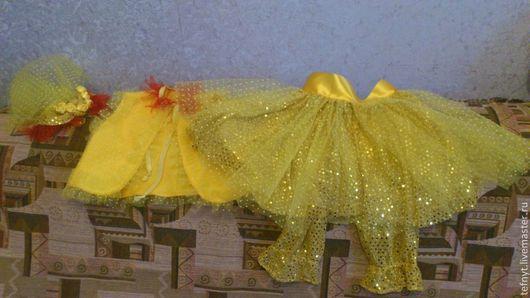 Детские карнавальные костюмы ручной работы. Ярмарка Мастеров - ручная работа. Купить Костюм Цыпы. Handmade. Желтый, трикотаж