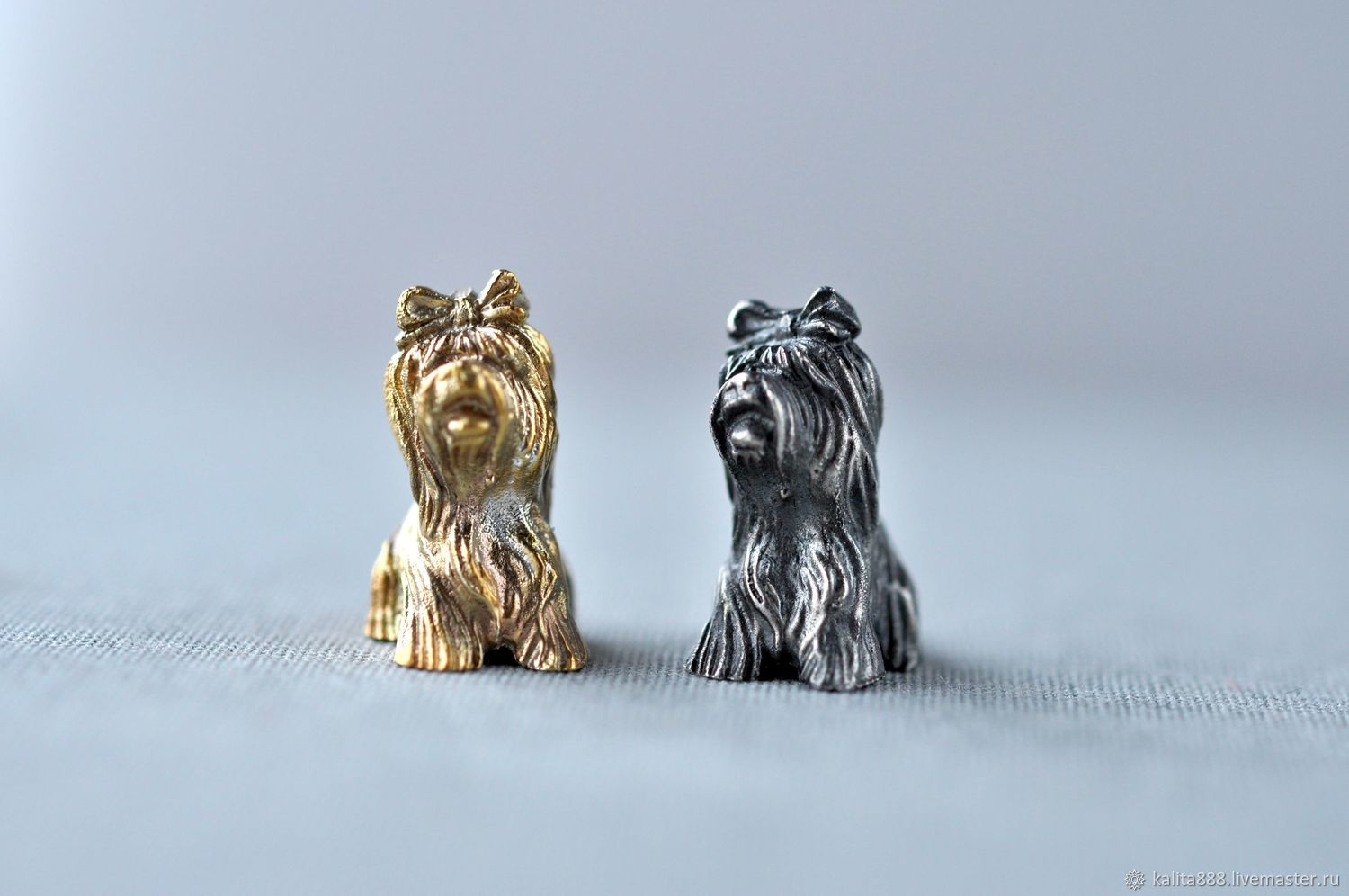 """Silver figures """"Yorkshire Terrier"""", Model, Moscow,  Фото №1"""