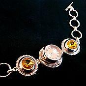 handmade. Livemaster - original item Bracelet-button 18 mm, Golden. Handmade.