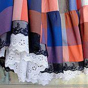 Одежда ручной работы. Ярмарка Мастеров - ручная работа Юбка летняя  Клетка. Handmade.