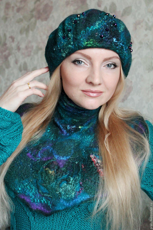 Видео Мастер-класс по шапке и берету с авторским декором, Войлок, Новосибирск,  Фото №1