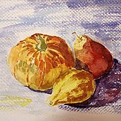 handmade. Livemaster - original item Painting Still Life With Fruit In The Interior Of The Kitchen. Handmade.