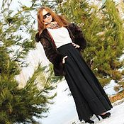 Одежда handmade. Livemaster - original item Warm long skirt